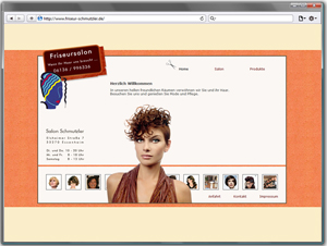 Webseite Friseursalon Silke Schmutzler